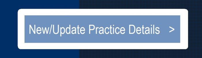 New or Update Practice Details Button