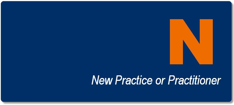 New Practice or Practitioner button